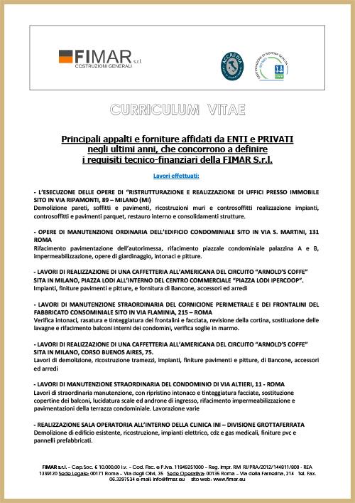 Fimar Certifications